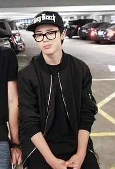 BTS's Jimin with glasses