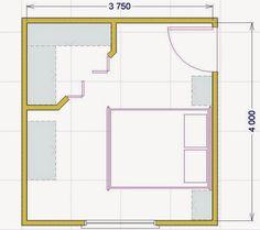 Progettare una cabina armadio: misure e dimensioni minime per il fai da te House Layout Plans, House Layouts, Wardrobe Room, Bedroom Layouts, Walk In Closet, Log Homes, Small Apartments, My Dream Home, Floor Plans