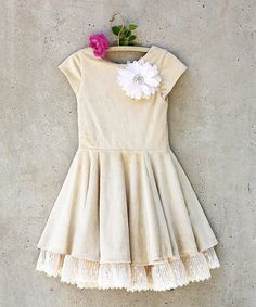 Another great find on #zulily! Tan Willow Dress - Toddler & Girls #zulilyfinds