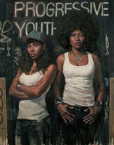 """Progressive Youth,"" oil, mixed media on canvas, 76 x 60"", (2011-12); in This Story Has Not Yet Been Told"