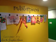 Items similar to Masterpieces Wall Decal for Children's Art Wall - Large Wall Decal - Customize Playroom - Art Wall Decal - Word Wall Decal - Name Decal on Etsy Preschool Rooms, Daycare Rooms, Home Daycare, Preschool Classroom, Classroom Decor, Daycare Setup, Daycare Ideas, Homeschool Kindergarten, Starting A Daycare