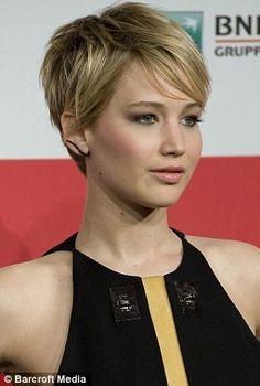 Jennifer Lawrence pixie it SO tempting!  Love it!