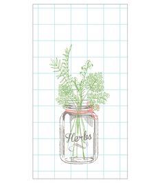 In The Garden 16ct Guest Towel-Herbs