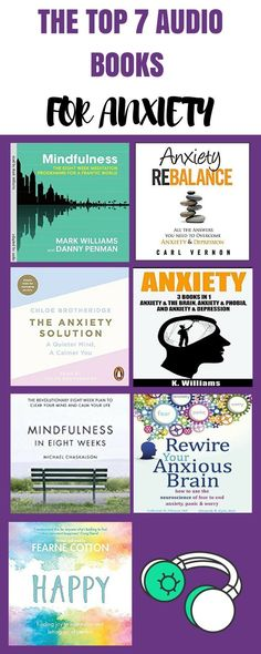 The top 7 audiobooks for anxiety! anxiety relief-anxiety help-depression relief-depression help-how to be happy-happiness tips-self love-self care-positivity-how to be positive-live your dream life-inspirational words-motivational words-motivation tips-in Anxiety Tips, Anxiety Help, Anxiety Relief, Overcoming Anxiety, Health Anxiety, Stress Relief, Shopping, Libros, Health And Fitness