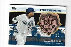 2017 Topps All-Star Game Pin Relic Medallion Salvador Perez MLBAS-SP Royals #KansasCityRoyals