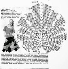 Кленовый лист The maple leaf Crochet Granny Square Crochet Pattern, Crochet Chart, Crochet Motif, Crochet Flowers, Crochet Stitches, Crochet Patterns, Crochet Skirts, Crochet Tunic, Crochet Clothes