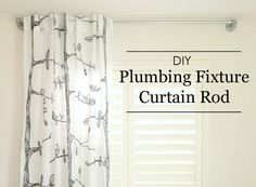 DIY Plumbing Fixture Curtain Rod - If you can't find exactly what you're looking for, why not make it? Here are simple steps to making a DIY plumbing fixture curtain rod.
