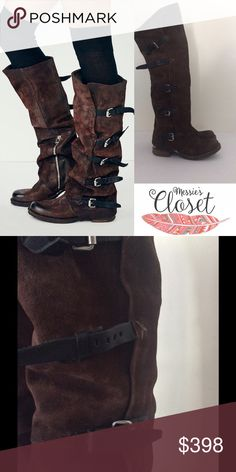 AS 98 Tatum Suede Boots New condition, one boot strap is missing buckle. AS 98 Shoes Over the Knee Boots