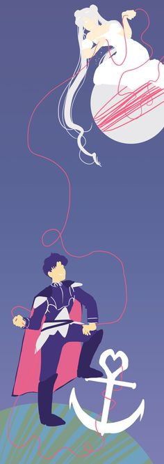 I felt like doing something lineless.  Made specifically to fit in with   photoset guidelines so that you'd get a feel of its length and the distance between the two.    It's the red string of fate anchoring the two together.