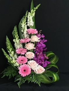 Subscribe to my youtube channal Funeral Floral Arrangements, Tropical Flower Arrangements, Creative Flower Arrangements, Flower Arrangement Designs, Ikebana Flower Arrangement, Church Flower Arrangements, Artificial Flower Arrangements, Beautiful Flower Arrangements, Beautiful Flowers