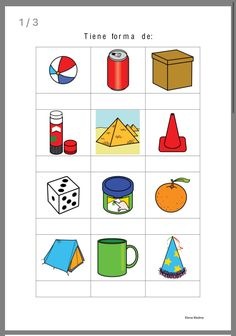Montessori Materials, Montessori Activities, Preschool Learning, Fun Worksheets For Kids, 1st Grade Worksheets, Writing Games, Geometric Solids, Shape Pictures, Math Concepts