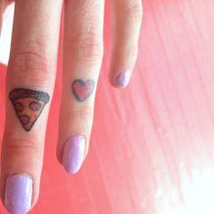 Pizza Love! Finger tattoos