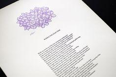 Letterpress Broadside of a Walt Whitman poem