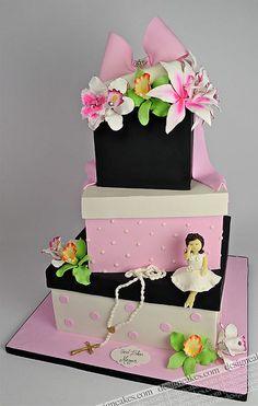 Gift box communion cake by Design Cakes, via Flickr