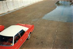 Red Car, William Eggleston. Unseen Kodachrome dye transfer process photos on show for the first time ever