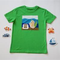 T-Shirt mit Aquarium | Innovative Kinder Bekleidung mit abnehmbaren Motiven - geniale und zauberhafte Mode für kreative Kids