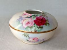 Bella Rosa Antiques: T Limoges France hair receiver ca. 1850.  You never go wrong with a Limoge piece