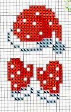 Cappello e guanti di Babbo Natale - punto croce  - cross Stitch - Kreuzstich - Punto de Cruz