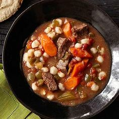 Beef and hominy stew