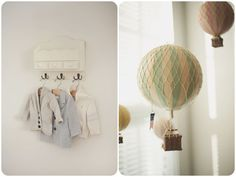 Henry's organic   rustic nursery | vintage hot air balloon inspired » Alex Michele Photography