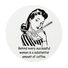 Vintage Housewife Frameless Wall Clock    A fun vintage housewife quote  $57.49