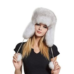 d03dca971d1c8 Women s Real Fox Fur Hats Sheep Leather Earmuffs Warm Winter Hats - Fur  Story Review