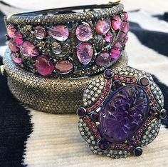 Need a pop of pink for Breast Cancer Awareness Month 🎀💗🚺? We got you covered! . . . #raregemsofindia #finejewelry #jewelry #indianjewelry #jewels #handmade #oneofakind #breastcancerawarenessmonth #popofpink #diamonds #gold #luxuryshopping #ootd #accessories #giftsforher #giftideas #bracelet #ring #wristparty #aspen #dallas #texas