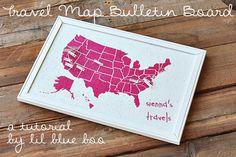 US Map Bulletin Board - SO CUTE!