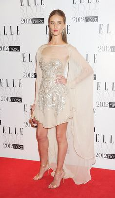 Posing on the red carpet at The 2012 Elle Style Awards at the Savoy Hotel in London.   - ELLE.com