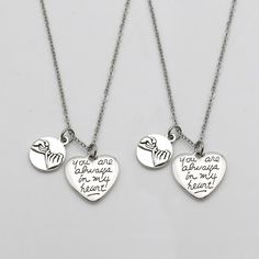 165b1df9b6 2 Pcs Pinky Promise Pinky Swear You Are Always in My Heart Necklace Sisters  Necklace BFF Gift(Necklace). Ada 🌹 · Promise Necklace For Couples