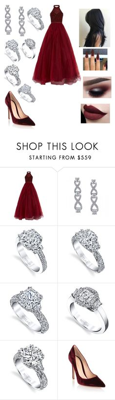 """""""Untitled #3289"""" by vanessa898 ❤ liked on Polyvore featuring Jovani, Harry Kotlar and Gianvito Rossi"""