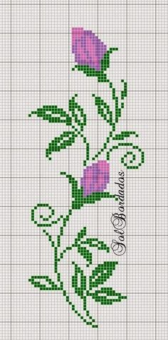 Roses and butterfly cross stit