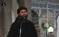 Threat: Islamic State leader Abu Bakr al-Baghdadi pledged to attack the West in a recorded message