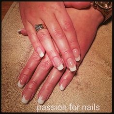 #nails #white #frenchmanicure