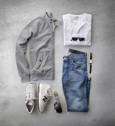 Outfit Ideas For Men: the latest trends in mens fashion and mens clothing styles Mode Outfits, Casual Outfits, Fashion Outfits, Stylish Men, Men Casual, Casual Wear, Look Fashion, Mens Fashion, Fashion Menswear