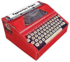 Typewriter Paper from Chronicle Books... This is so cute! I do wonder how you'd get the paper out of it, though.