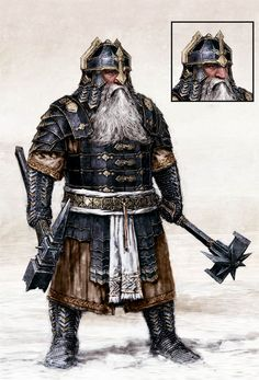 m Dwarf Fighter Hvy Armor Helm Dual WarHammer community mountain underdark The Hobbit Battle Of The Five Armies concept art Fantasy Dwarf, Fantasy Armor, Fantasy Weapons, Medieval Fantasy, Dnd Characters, Fantasy Characters, Fantasy Character Design, Character Art, Dwarven Armor