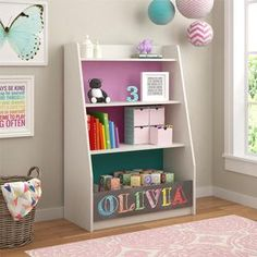 Altra Kaleidoscope Whimsy Storage Bookcase by Cosco