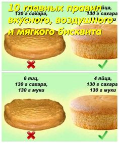 10 main rules of delicious, airy and soft sponge cake - Cooking Recipes Baking Tips, Baking Recipes, Cake Recipes, Healthy Recipes, Cookies And Cream Cake, Bon Appetit, Bakery, Food And Drink, Favorite Recipes
