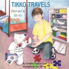 """TIKKO TRAVELS Dorian's Story by Christine Frances Poe, Illustrated by Jean Wilson  TIKKO TRAVELS is an inspirational, heart-warming tale of a little polar bear travelling for #autism #awareness; and the 9 year old boy on the spectrum who dreamt of making the world a better place for families living with autism.  It's a journey of HOPE, COMPASSION & COURAGE.  This is """"Dorian's Story."""" Living With Autism, 9 Year Olds, S Stories, Old Boys, Autism Awareness, Children's Books, Polar Bear, Compassion, Spectrum"""