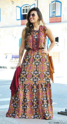 Vestido Longo Gibão de Rosas - Loja Prosa