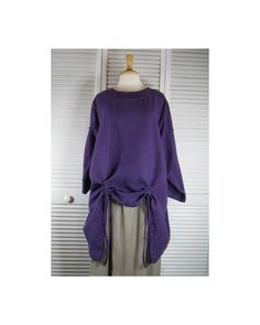 Drapery Misses Flax Linen Tunic in 15 Colors / Sizes Sm - XL    Made to Order by MaxEquations on Etsy https://www.etsy.com/listing/192228328/drapery-misses-flax-linen-tunic-in-15