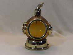 Vintage Bell Diver's Helmet Glass Liquor Decanter:Plays How Dry I Am