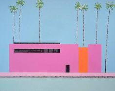 "Saatchi Art Artist Andy Shaw; Painting, ""Modern Home, California"" #art"