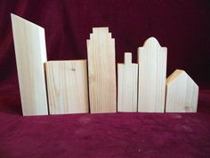 The basic unfinished pine 6 piece Cityscape. All of the buildings are slightly different so you can design your own Big City skyline. Free Hand Drawing, Graph Paper, Flat Roof, Can Design, Stand Tall, Animals For Kids, Primary Colors, Light Colors, Pine
