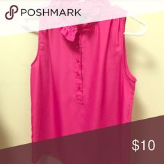 J. Crew Sleeveless Blouse Missing top button in ruffle area. Great work basic. J. Crew Tops Blouses