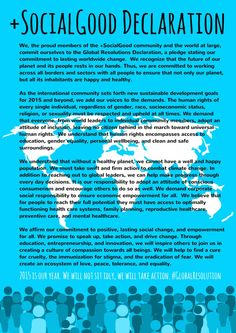 The #GlobalResolution Declaration for #action2015: sign it and share it widely. @plussocialgood #2030Now