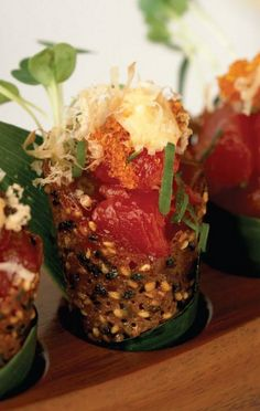 spicy tuna tartare from wolfgang puck