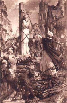 Jeanne d'Arc sur le b�cher. 30 mai 1431 : ex�cution de Jeanne d'Arc. Histoire de France. Patrimoine. Magazine