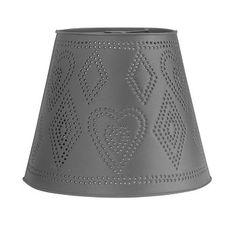 Black Tin #Lamp #Shade Heart Punched 11 H x 13 1/2 Dia # 18190 Shop --> http://www.rensup.com/Lamp-Shade/Lamp-Shades-Black-Tin-Lamp-Shade-Heart-Punched-11-H-x-13-1-by-2-Dia/pd/18190.htm?CFID=1232293&CFTOKEN=a1b2225cbb1af233-5588A57B-B270-514A-362BBE5A92FB1D5B